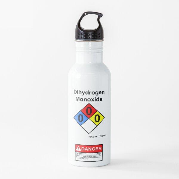 Dihydrogen Monoxide Danger Diamond Chemical Warning Label Joke Water Bottle