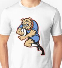 Bulldog rugby player running with ball Unisex T-Shirt