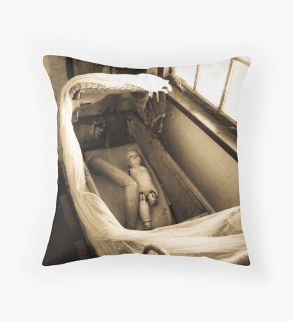 Macabre Dolly Throw Pillow