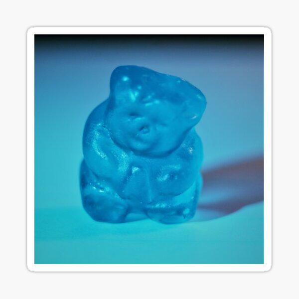A BLUE BLUE GUMMY BEAR Sticker