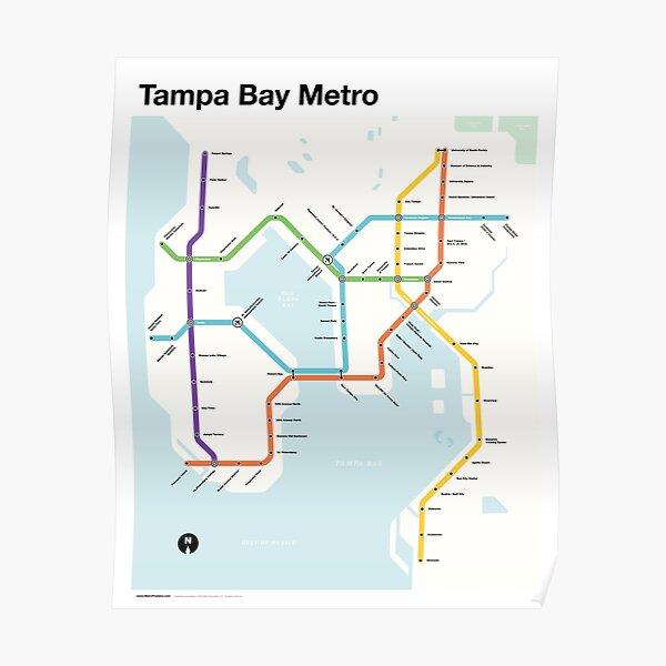 Tampa Bay Metro (Fantasy Subway Map, Tampa, Florida) Poster