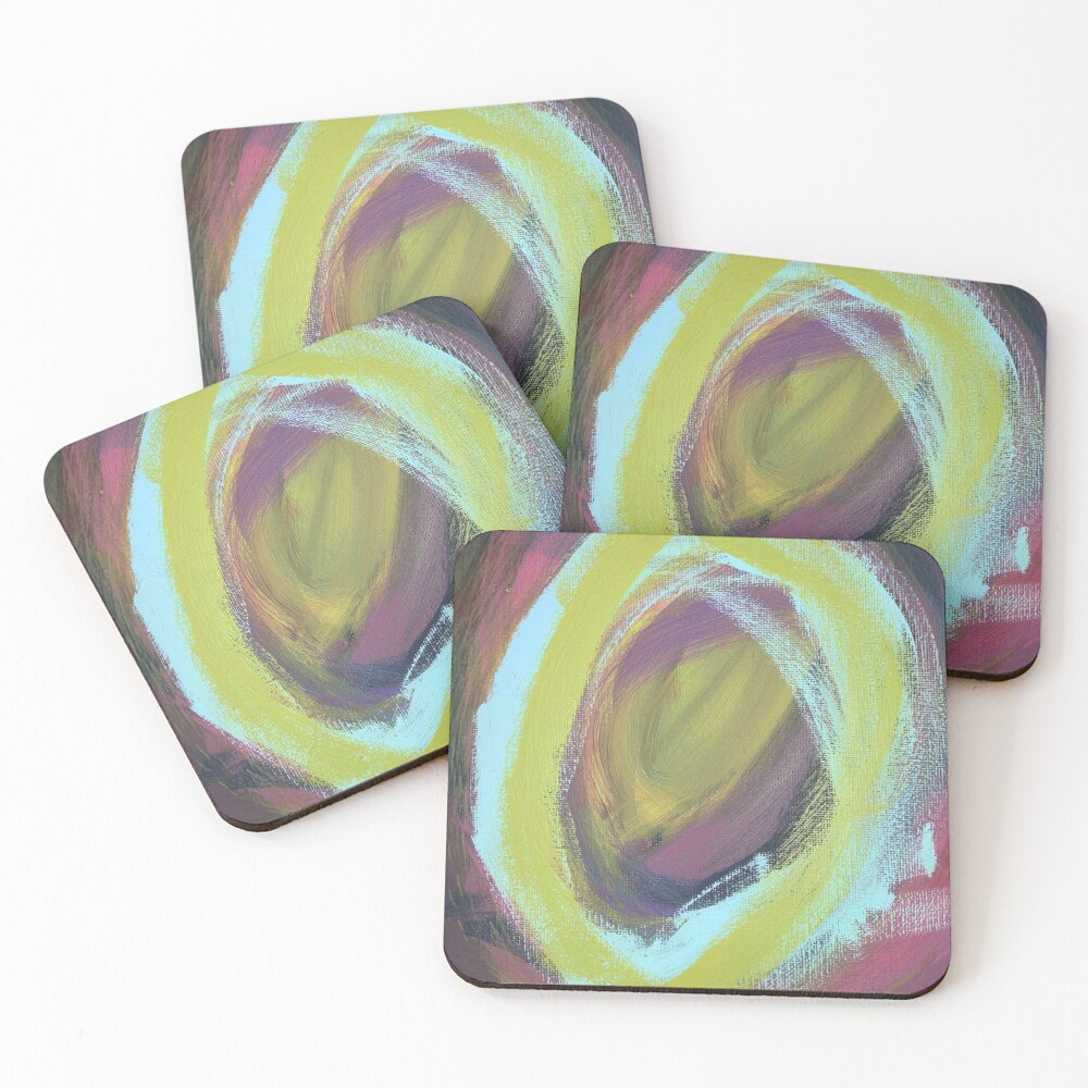 On a Merry go Round Coasters (Set of 4)