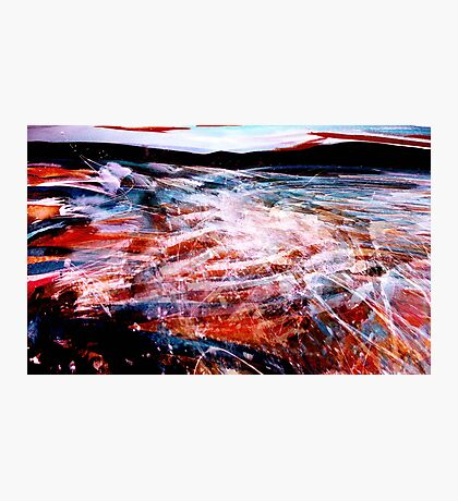 river sea ....spark spray where waters meet Photographic Print