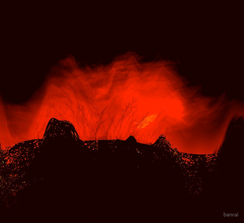 ancient times..... volcano fire  by banrai