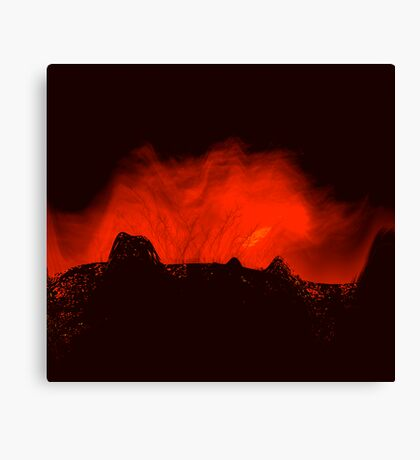 ancient times..... volcano fire  Canvas Print