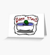 Bathe the elder god!! Greeting Card