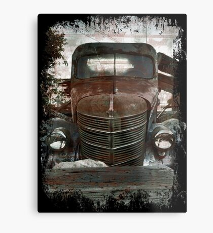 Old Rusted Beauty Metal Print