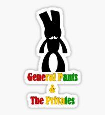 GP&TP w. text (rasta) Sticker