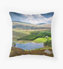 Loch Gynack, Scottish Highlands Throw Pillow