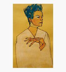 After Egon Schiele (Austria 1890-1918) 'Self Portrait with hands on chest'. 1910 © Photographic Print