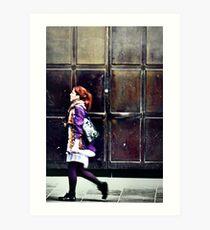 Purple Stockings... Art Print