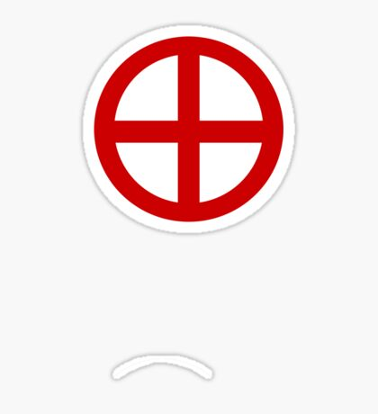 Red Point Circle Sticker