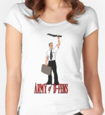 Army of D-Fens Women's Fitted Scoop T-Shirt