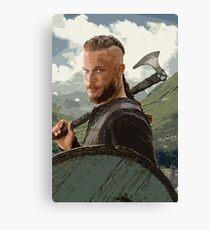 Ragnar Lothbrok Digital Painting Canvas Print