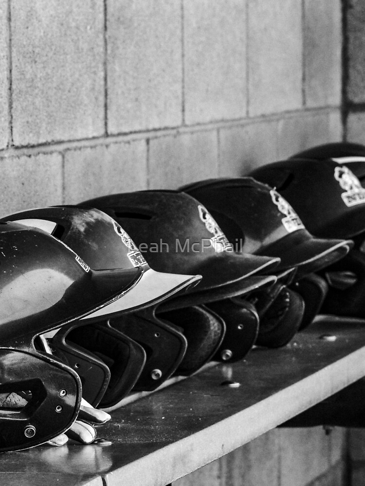 Helmets on a Bench  by LeahMcPhail