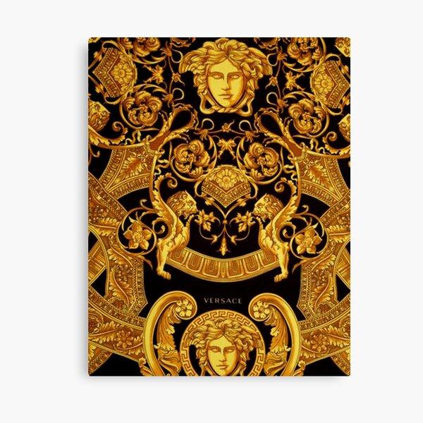 Gold Versace Muster Leinwanddruck