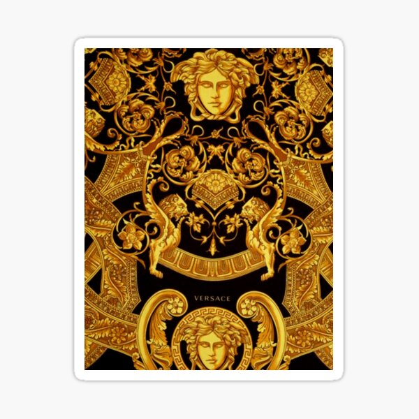 Gold Versace Pattern  Sticker