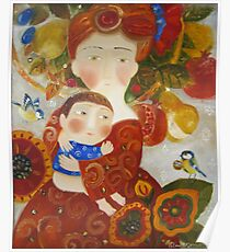 picture of mother and child Poster