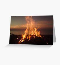 Sunset through fire Greeting Card