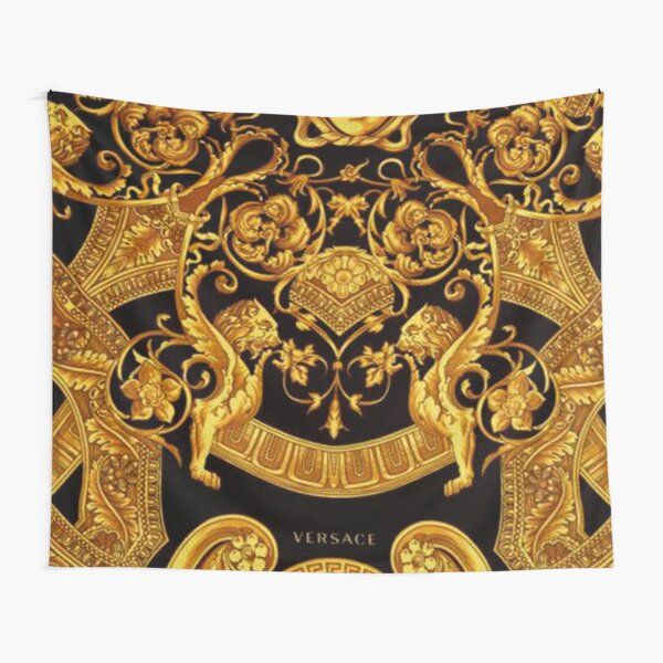 Gold Versace Pattern  Tapestry
