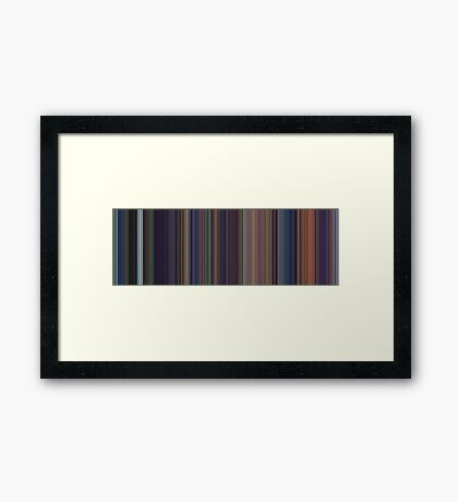 Moviebarcode: The Little Mermaid (1989) [Simplified Colors] Framed Print