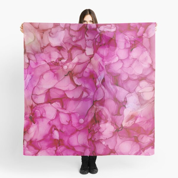 Passion Roses: Original Abstract Alcohol Ink Painting Scarf