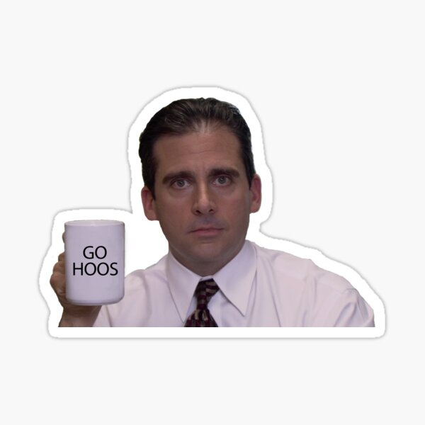 go hoos michael scott Sticker