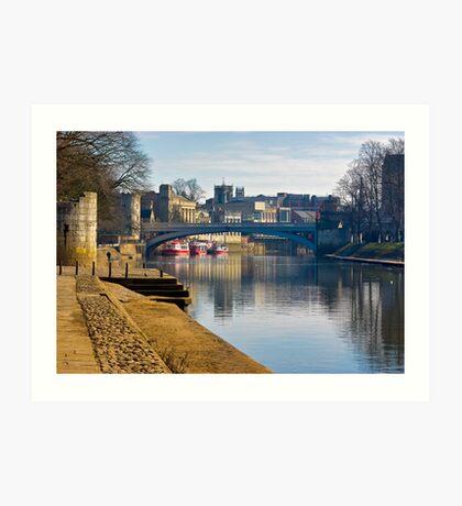 The River Ouse & Lendal Bridge - York Art Print