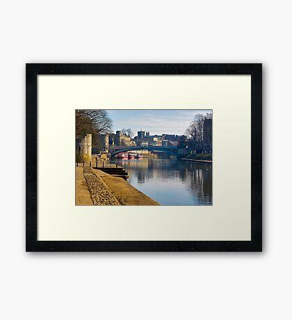 The River Ouse & Lendal Bridge - York Framed Print