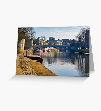 The River Ouse & Lendal Bridge - York Greeting Card