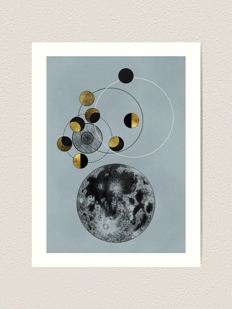 Alternate view of Phases of the Blue Moon Art Print