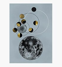 Phases of the Blue Moon Photographic Print