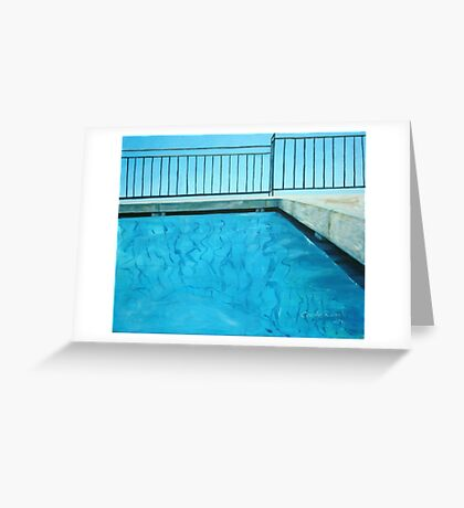 abstract water Greeting Card