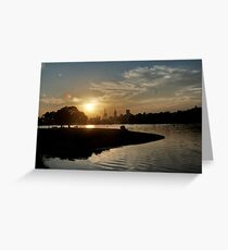 July Sunset Greeting Card