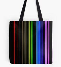 Vertical Rainbow Bars Tote Bag