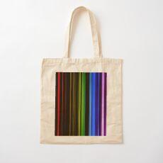 Vertical Rainbow Bars Cotton Tote Bag