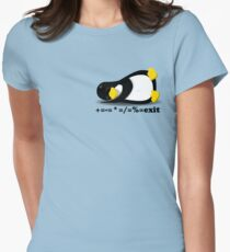 LINUX TUX THE PENGUIN Women's Fitted T-Shirt