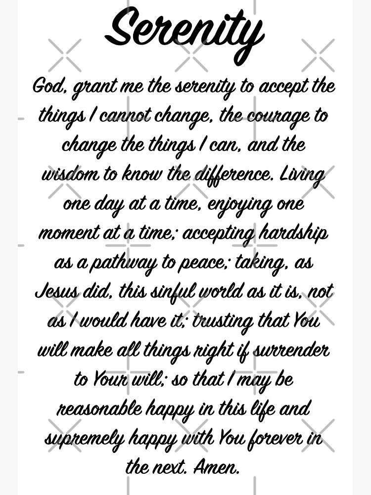 "Full Serenity Prayer"" Art Board Print by heavenlypeace 