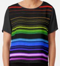 Horizontal Rainbow Bars Chiffon Top