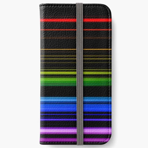 Horizontal Rainbow Bars iPhone Wallet