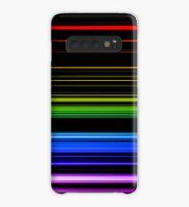 Horizontal Rainbow Bars Case/Skin for Samsung Galaxy