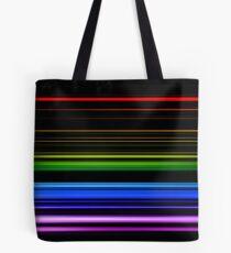 Horizontal Rainbow Bars Tote Bag