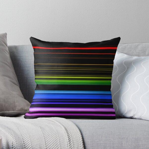 Horizontal Rainbow Bars Throw Pillow