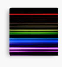 Horizontal Rainbow Bars Canvas Print