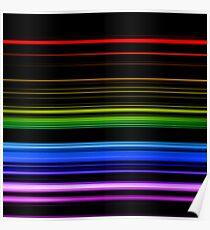 Horizontal Rainbow Bars Poster