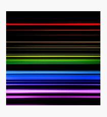Horizontal Rainbow Bars Photographic Print