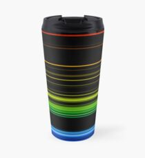 Horizontal Rainbow Bars Travel Mug