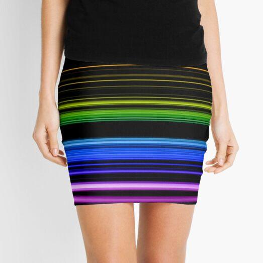 Horizontal Rainbow Bars Mini Skirt