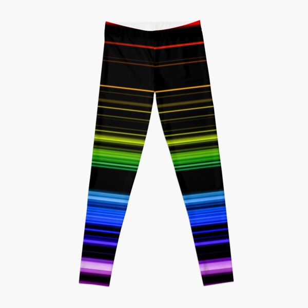 Horizontal Rainbow Bars Leggings