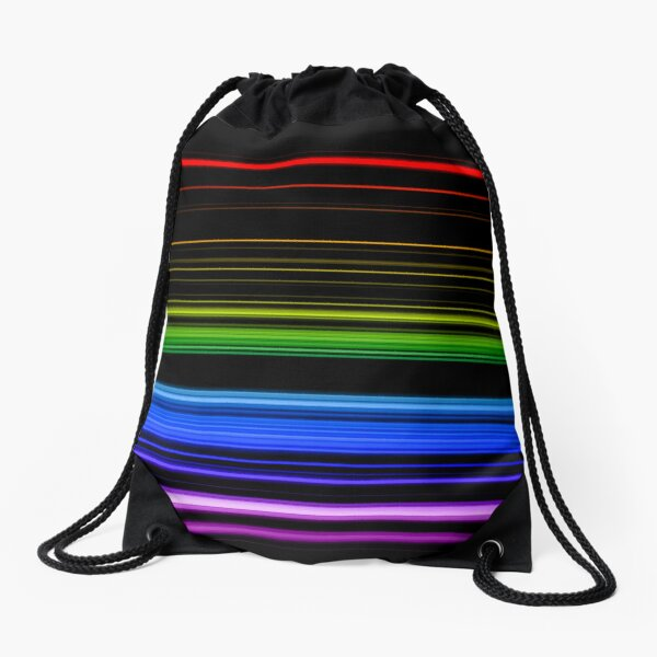 Horizontal Rainbow Bars Drawstring Bag